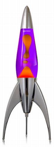 Mathmos Telstar - Violet met Oranje lava