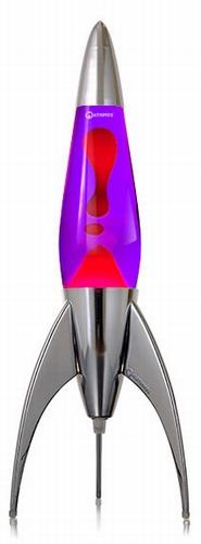 Mathmos Telstar - Violet met Rode lava