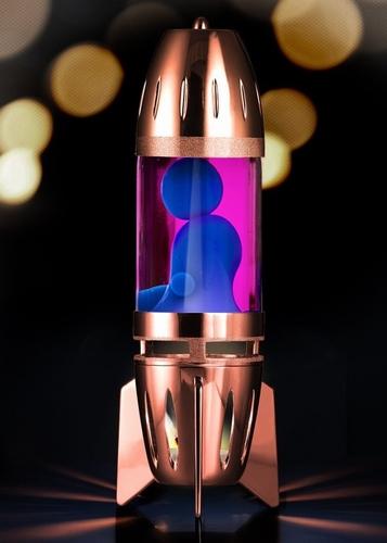 Mathmos Fireflow Koper - Roze met Blauwe Lava