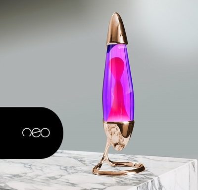 Mathmos Neo Koper - Violet met Roze lava