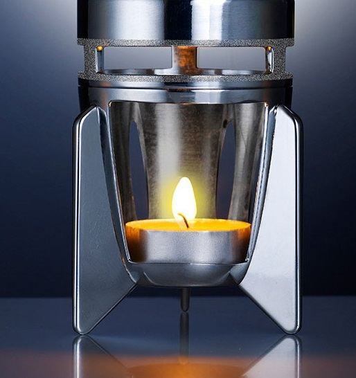 Mathmos Fireflow Zilver - Geel met Oranje Lava