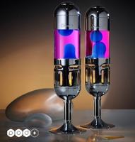 Mathmos Pod+ Kaars lavalamp - Blauw met Roze lava