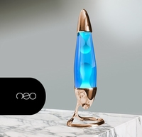 Mathmos Neo Koper - Blauw met Turquoise lava