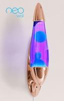 Mathmos Neo Muur lavalamp Koper - Violet met Turquoise lava
