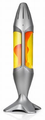 Mathmos iO 78cm hoge lavalamp - Geel met Oranje lava