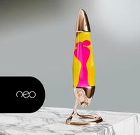 Mathmos Neo Koper - Geel met Roze lava (Nieuw!)