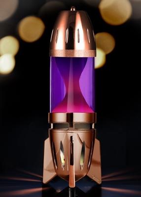 Mathmos Fireflow Koper - Violet met Roze lava